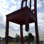 broken chair in Geneva, Geneva, Switzerland