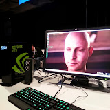 NVidia Face Works Tech Demo.  A good video of this from an earlier 2013 conference: http://youtu.be/CvaGd4KqlvQ?t=8m43s  (This should jump to 8:43 in the demo)