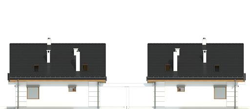 Nowinka VI z garażem i wiatą bliźniak A1-BL1 - Elewacja tylna