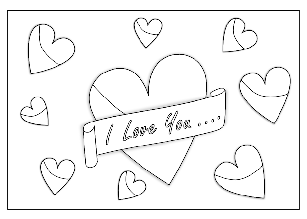 Love You Coloring Pages Printable  Love You Art Coloring Book  Colouring Sheet Page Black