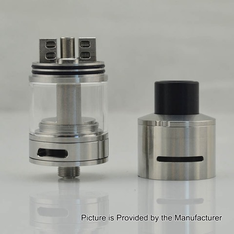 authentic-blitz-subohmcell-hellcat-rdta-sub-ohm-tank-atomizer-silver-stainless-steel-2ml-4ml-24mm-diameter
