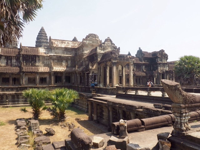 Entrance to Angkor Wat temple, Cambodia