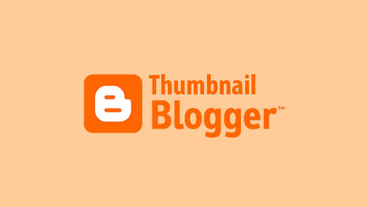 membuat thumbnail blog