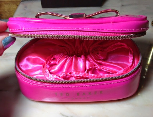 Ted Baker pink jewellery case
