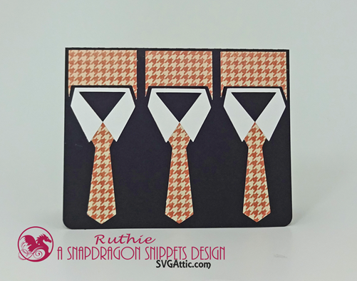 necktie trio card, SnapDrgon Snippets, Ruthie Lopez 3