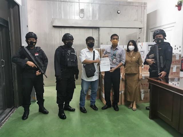 Brimob Polda Sumut Kembali Lakukan Pengawalan Vaksin Untuk Provinsi Sumatera Utara