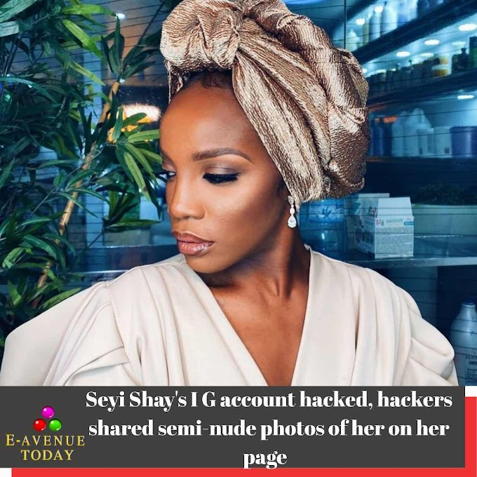 Seyi Shay's IG account hacked, hackers shared semi-nude photos of her on her page
