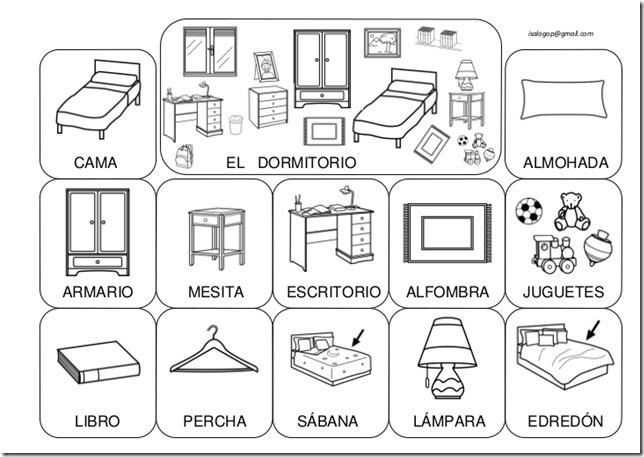 Fichas Para Colorear Cosas De La Casa