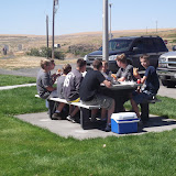 Lunch at the Sprague Rest Area