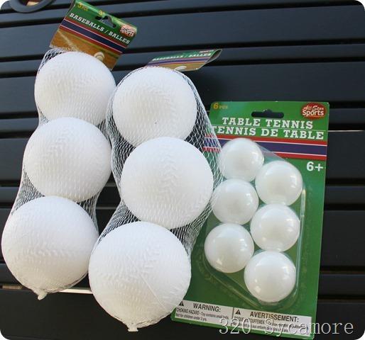 dollar tree balls