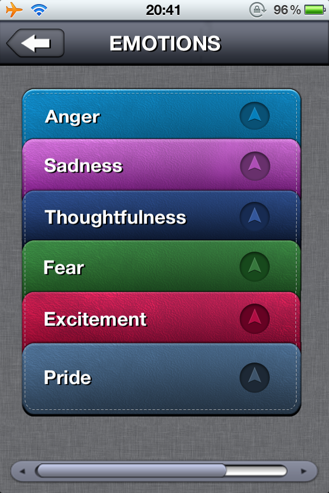 Emotion Cards Main Page