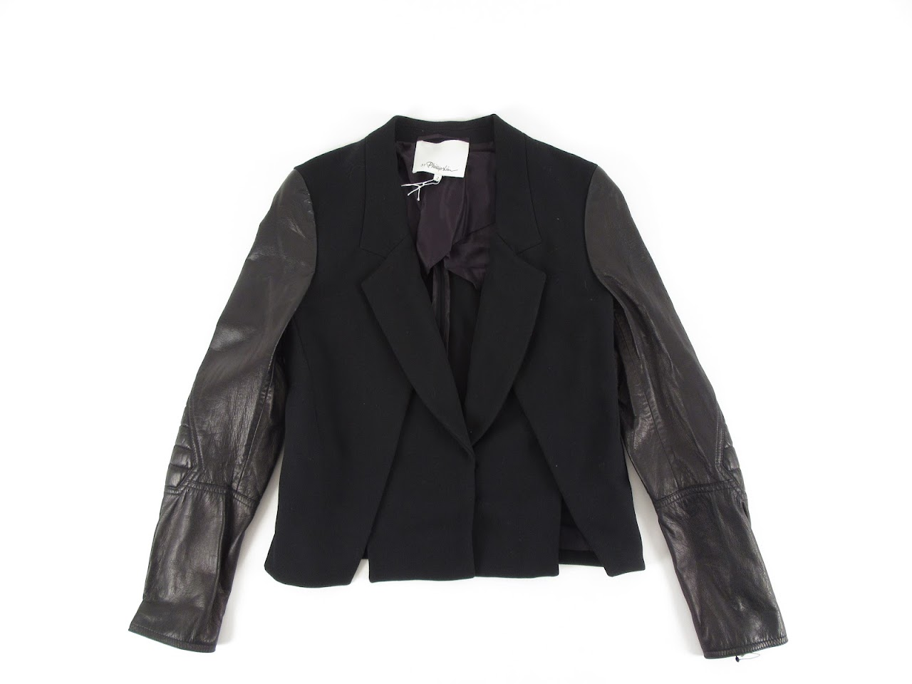 3.1 Philip Lim Crossfront Jacket with Biker Sleeve