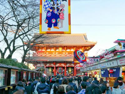 Nakamise Shopping Street at Sensoji Temple in Asakusa