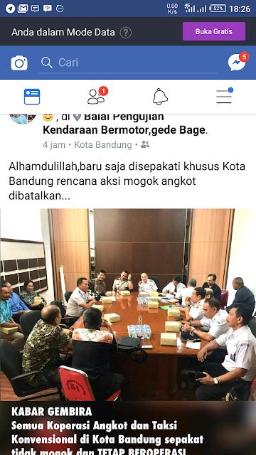 Kesepakatan Koperasi Angkot dan Taksi Konvensional dengan Dishub Kota Bandung