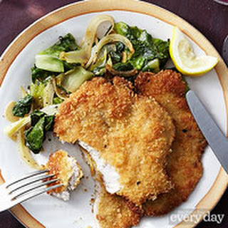 Milanese Pork Medallions with Warm Fennel & Escarole Salad