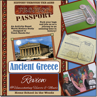 review of HISTORY Through the Ages Project Passport World History Study: Ancient Greece @ Homeschooling Hearts & Minds
