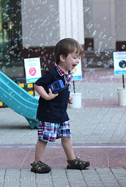 Little boy with bubbles