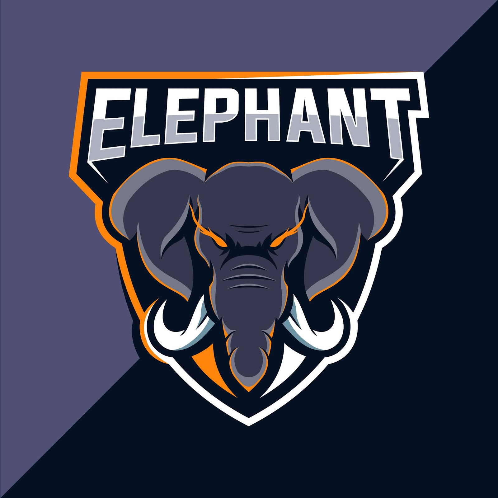 Elephant Mascot Esport Logo Design Free Download Vector CDR, AI, EPS and PNG Formats