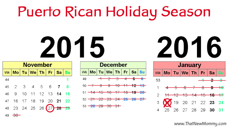 Puerto Rican Holiday Season - ThatNewMommy