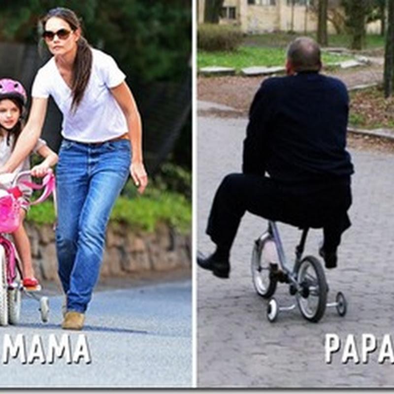 humor, con mamá y con papá