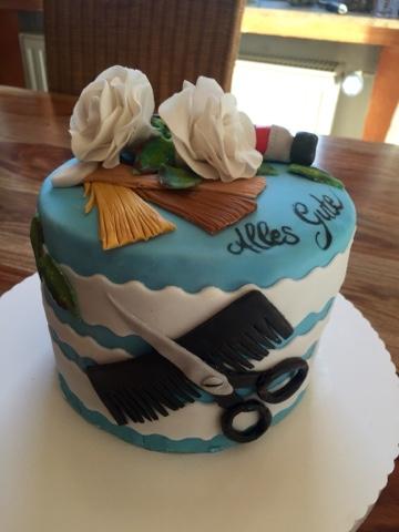 Nicoles Zuckertraum Friseur Torte