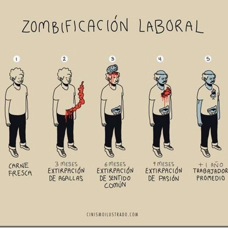 Eres un trabajador zombie