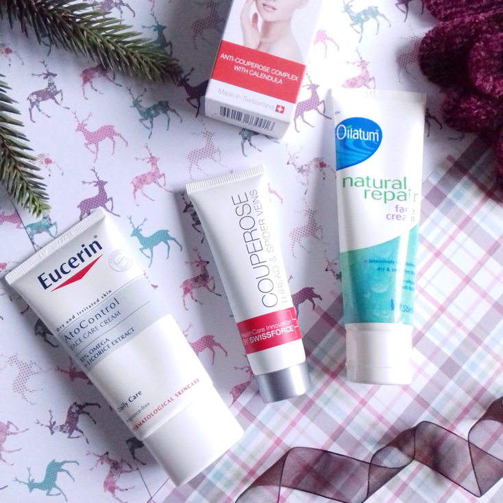 eucerin face cream, swissforce pharma couperose cream, oilaitum face cream