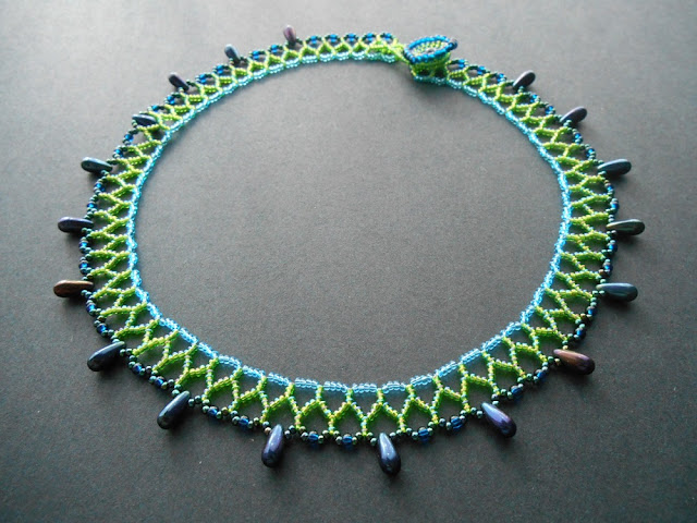 Blue Green Mini Collar