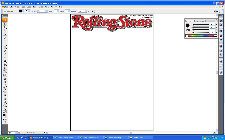 Rolling Stone Magazine Cover Template Magazine Cover Template