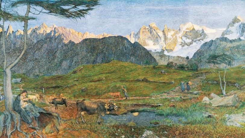 Giovanni Segantini - Alpen-Triptychon. La vita(Life)