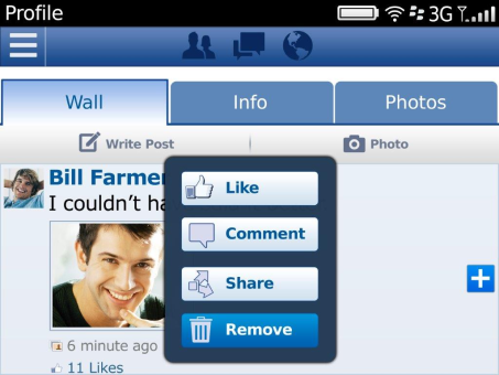 Facebook v4.3.0.12 for BlackBerry