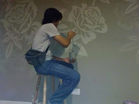 PAINTNG, Stencile Painting ( Simple Wall Painting)