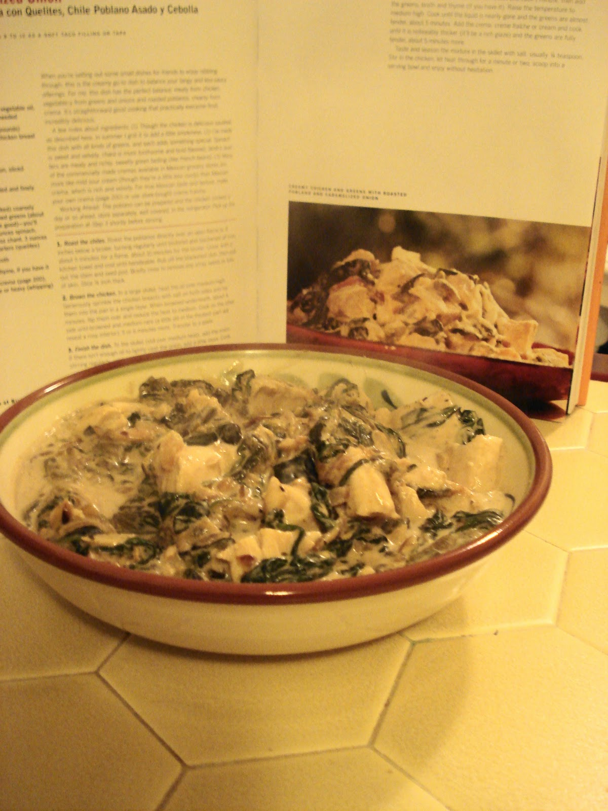 The Foodie Couple: Rick Bayless' Creamy Chicken & Greens ...