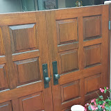 Gate Door Refinishing  Sikkens Cetol with Copper Caps Del Mar 92014  Peek Brothers Painting