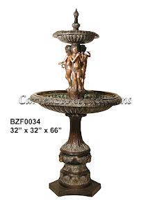 Bronze, Cherub, Fountain, Statue