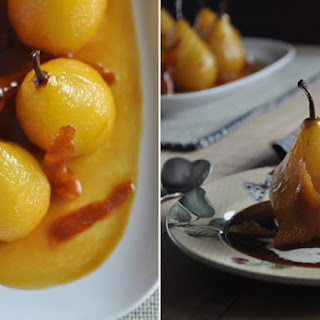 Caramel Poached Pears