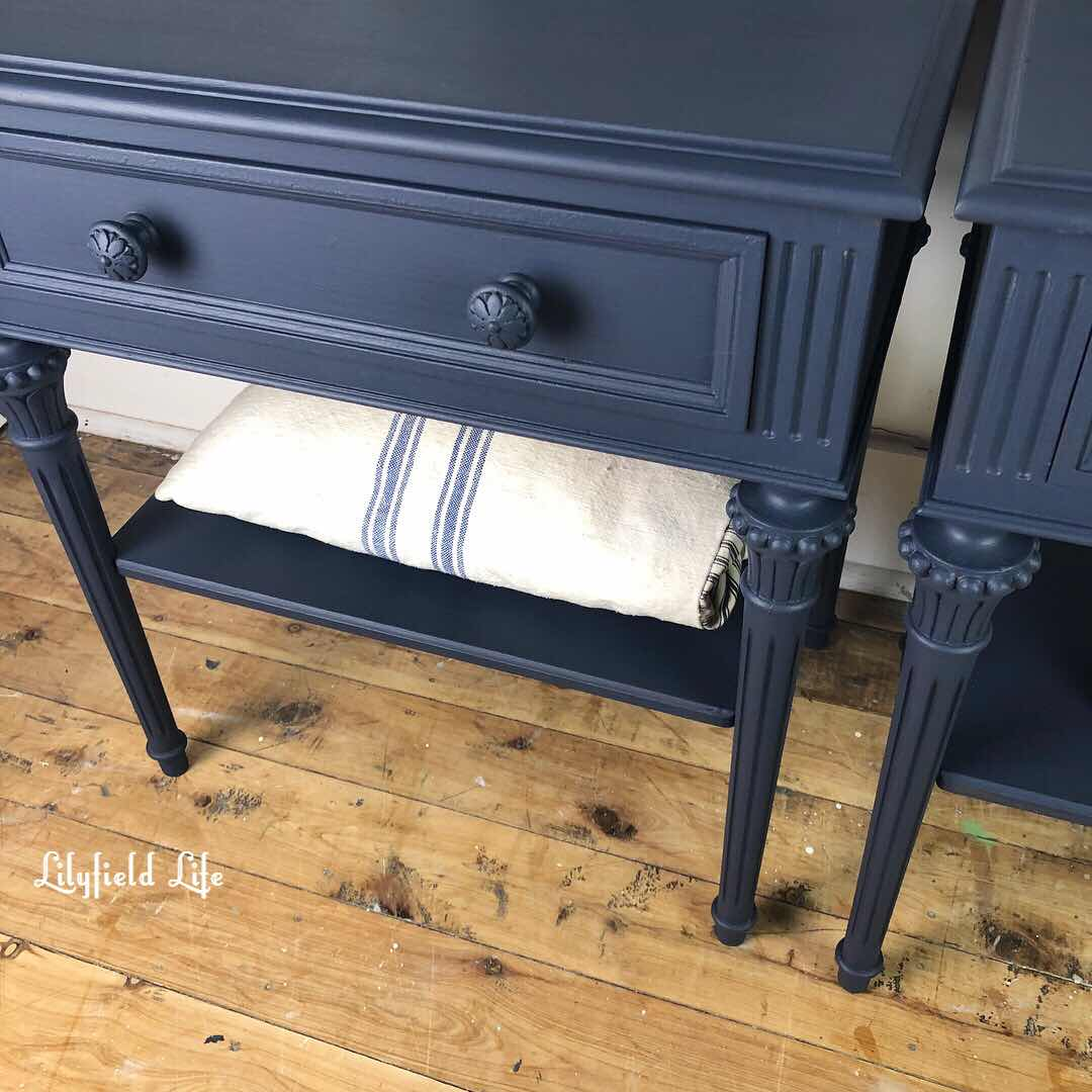 Lilyfield life navy bedside tables