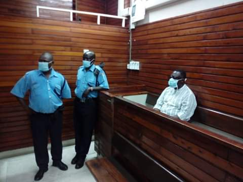 Kilifi deputy governor Gideon Saburi at Mombasa Court