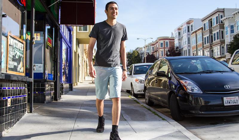 Green Oxford Shorts: Valencia Stroll