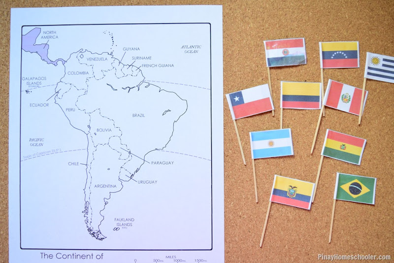 South America Continent Maps and Flags