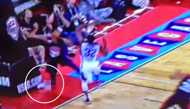 pacers paul george suffers serious leg injury nsfw video