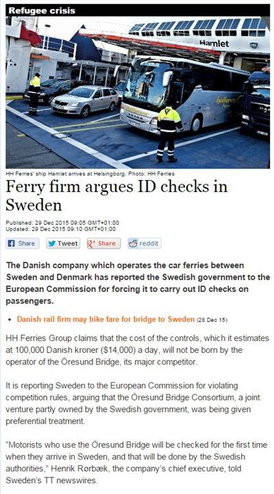 Sweden ID checks
