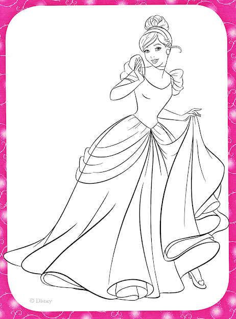 Disney Princess Cinderella Coloring Pages On Cartoons With Disney Princess  Coloring Pages Cinderella