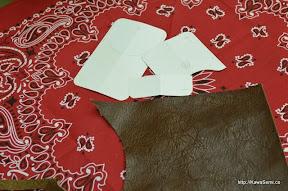 型紙とバンダナ。