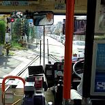 taking the bus to the Kotoku-in temple in Kamakura, Kanagawa, Japan