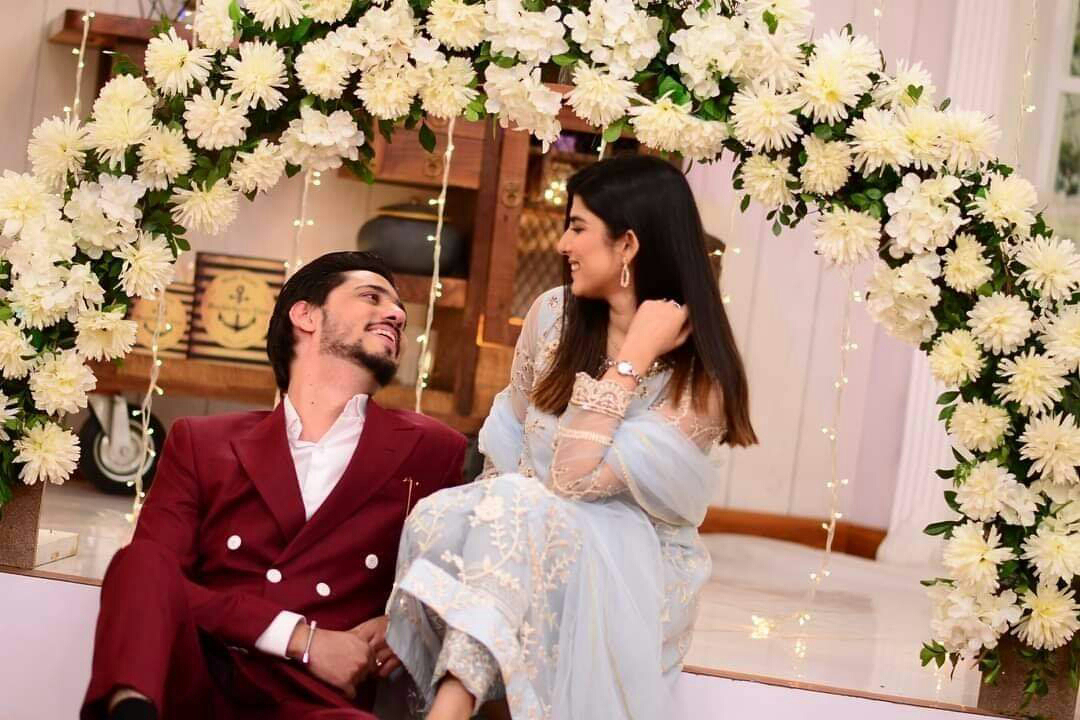 Ahmed Godil with his wife Asra Gets Wedding Feast