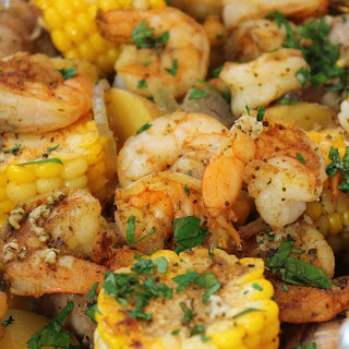 Shrimp Boil Dinner in Foil Packets