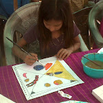 Art Workshop hosted by Gizella Varga Sinai at Najafgarh