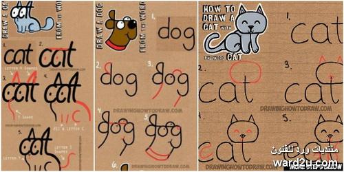 كلمات انجليزية فى رسومات بسيطة