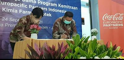 Kimia Farma Apotek Beri Kemudahan Memperoleh Produk Kesehatan Kepada Karyawan CCEP Indonesia